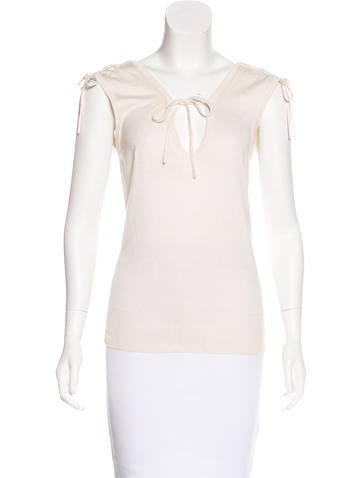 Diane von Furstenberg Silk Sleeveless Top None