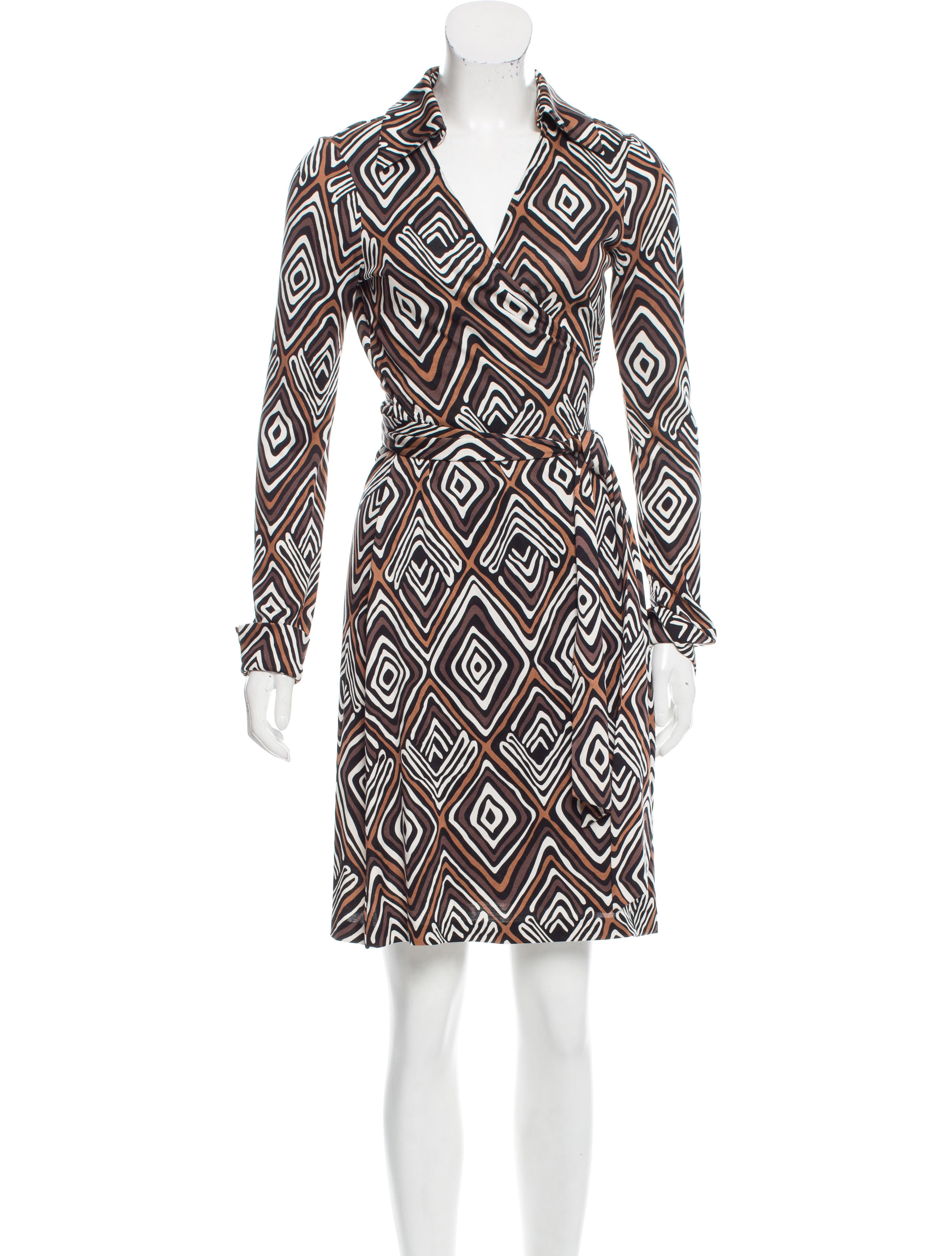 Diane von furstenberg silk jeanne dress clothing for Diane von furstenberg shirt
