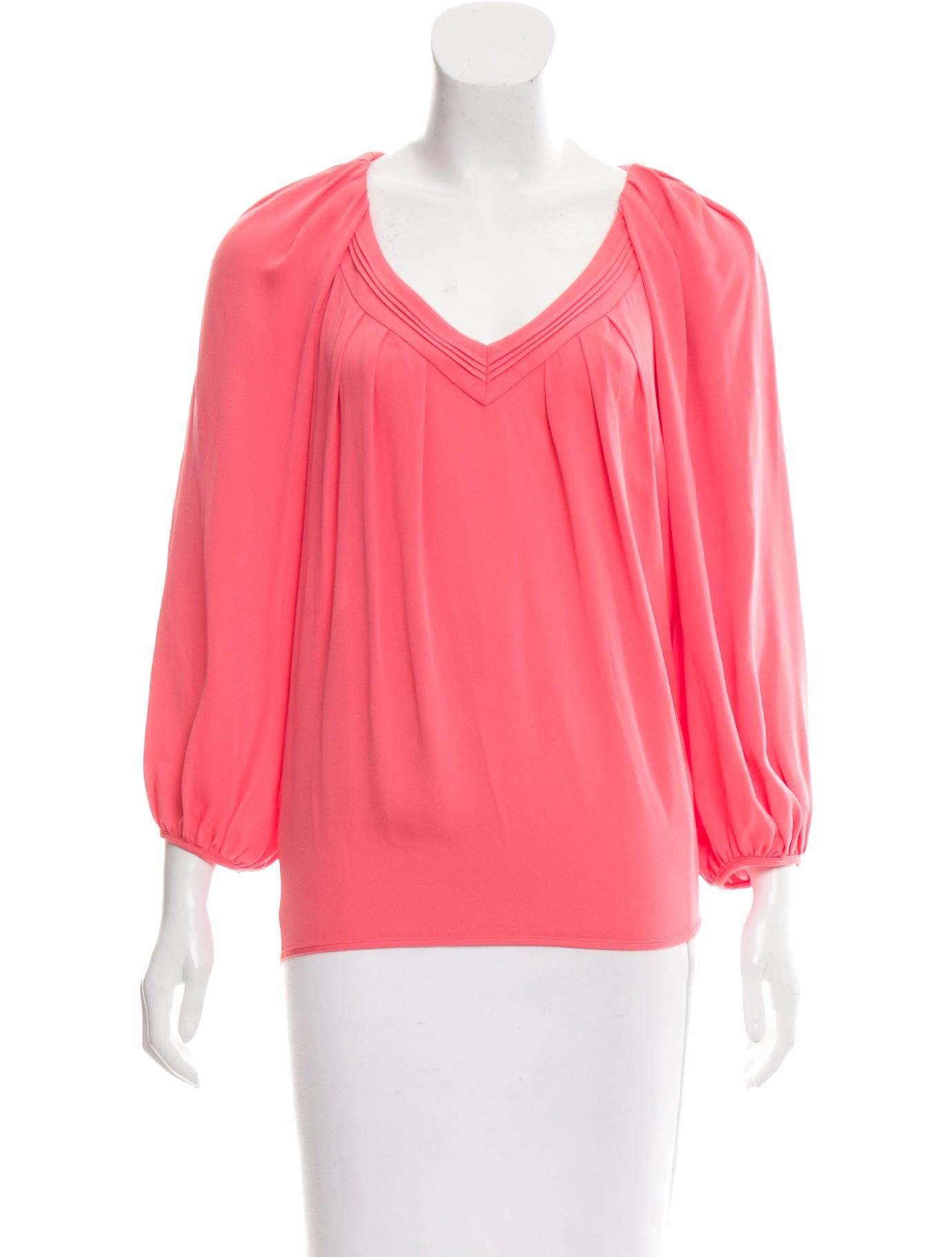 Diane von furstenberg cahil silk top clothing for Diane von furstenberg shirt