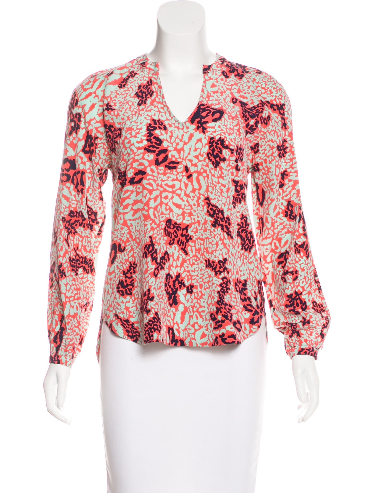 Diane Von Furstenberg Maiko Silk Top Clothing