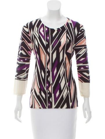 Diane von Furstenberg Cashmere Printed Sweater None