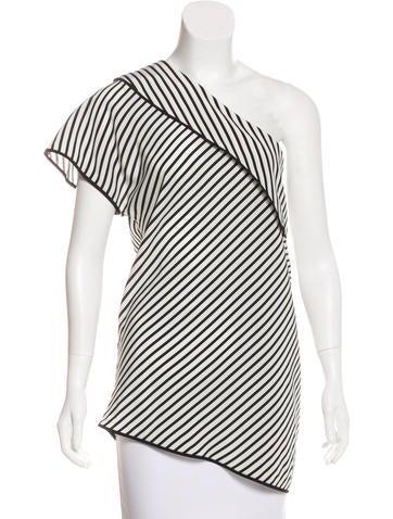 Diane von Furstenberg Silk One-Shoulder Top None