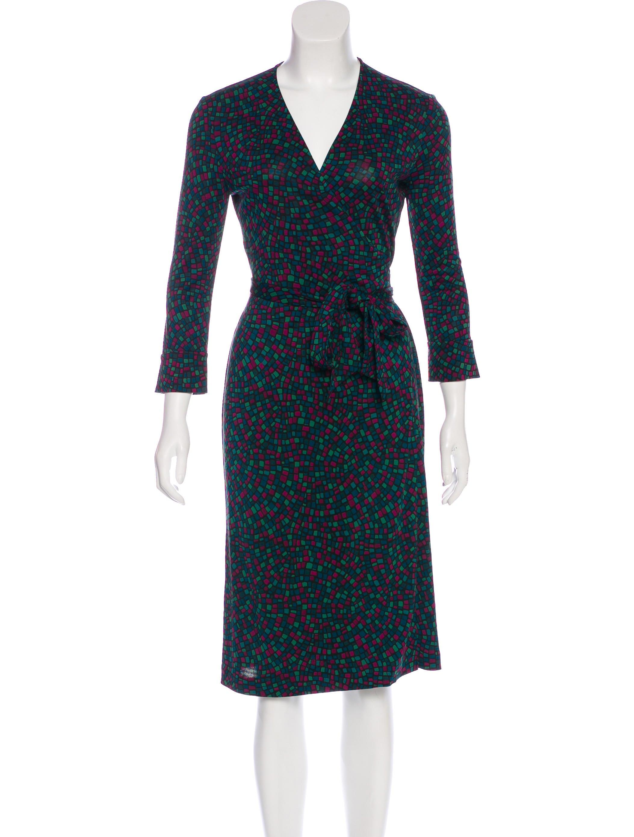 Diane von furstenberg silk jersey wrap dress clothing for Diane von furstenberg clothing