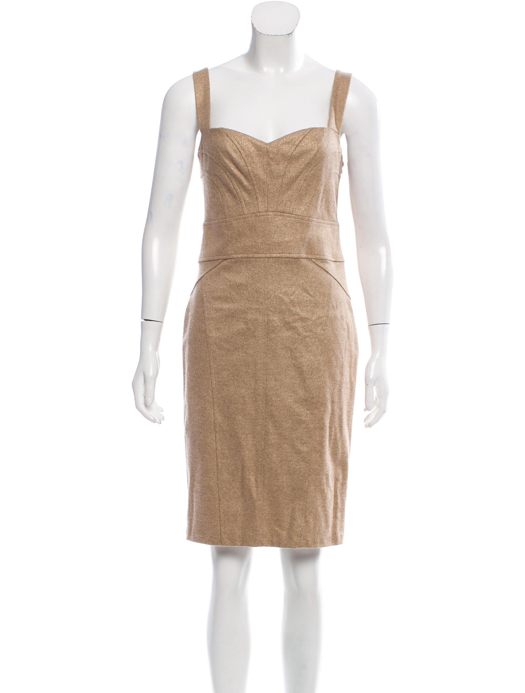 Diane von furstenberg jiwon metallic dress clothing for Diane von furstenberg clothing