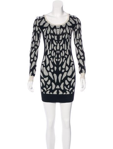 Diane von Furstenberg Wool Patterned Dress None