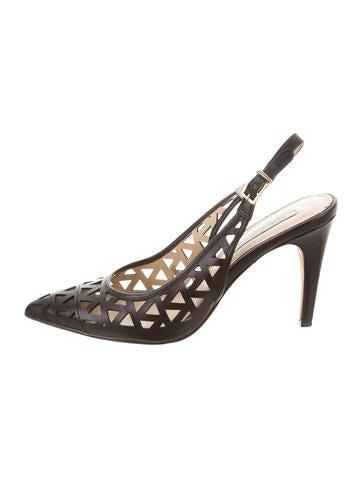Diane von Furstenberg Laser Cut Slingback Pumps free shipping amazon store cheap online hdok4u