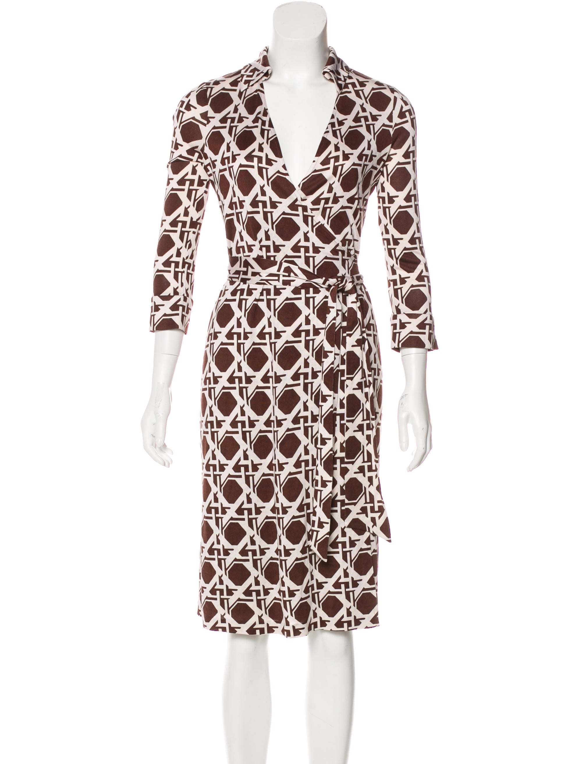 Diane von furstenberg justin silk dress clothing for Diane von furstenberg clothes