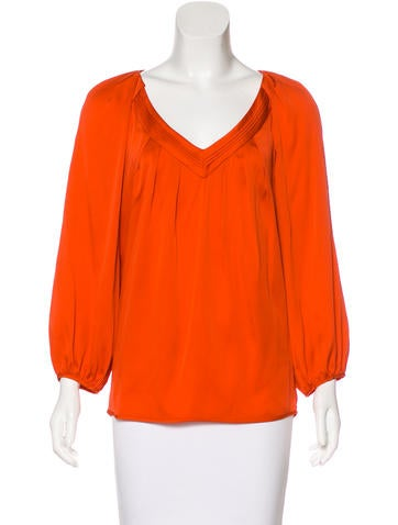 Diane von Furstenberg Cahil Silk Top None