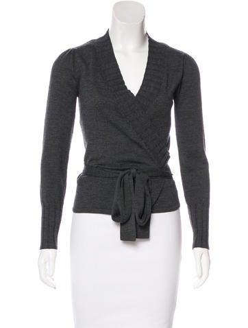 Diane von Furstenberg Wool Wrap Top None