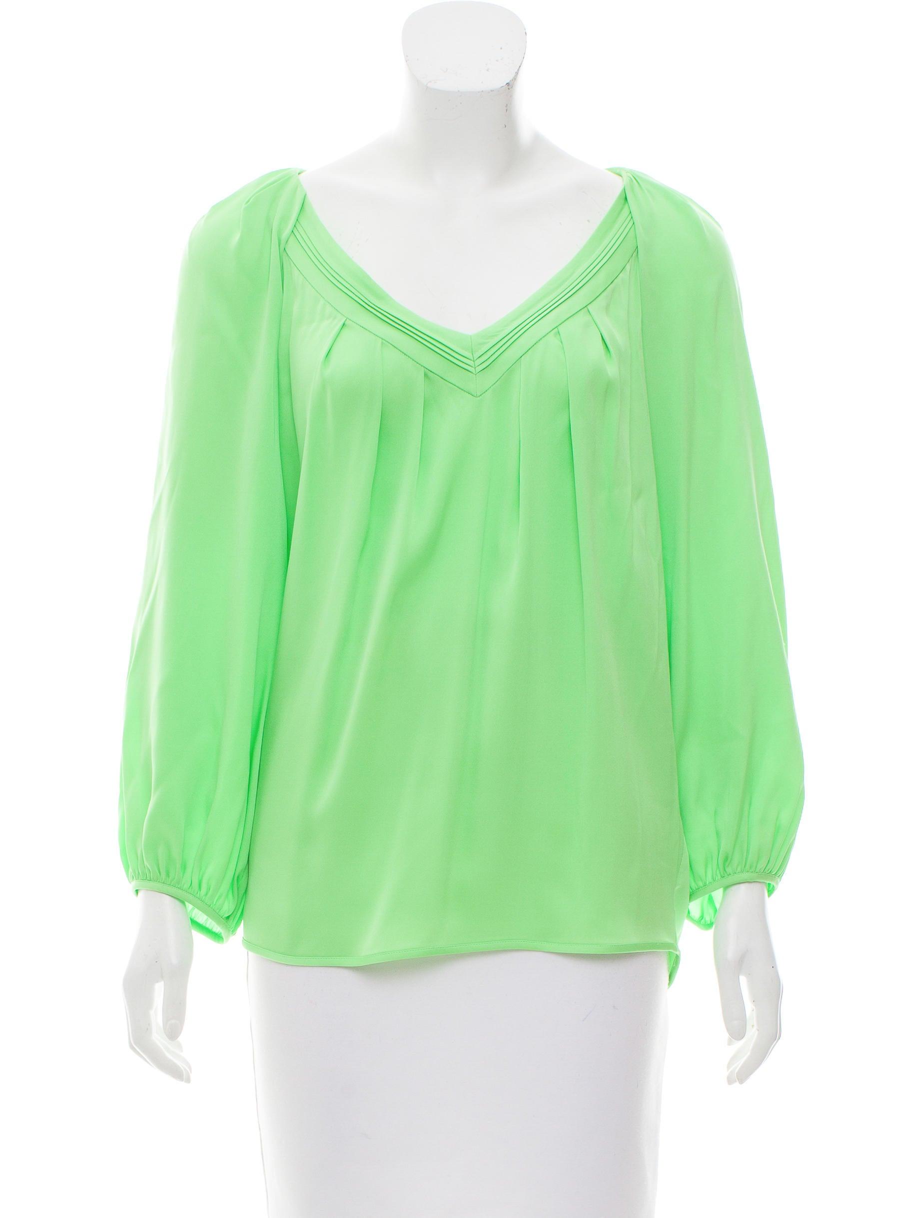 Diane von furstenberg cahil silk blouse clothing for Diane von furstenberg shirt