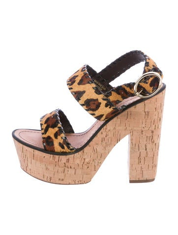 Diane von Furstenberg Ponyhair Platform Sandals clearance browse buy cheap footaction outlet fashion Style outlet real w6Gyd5z9aX