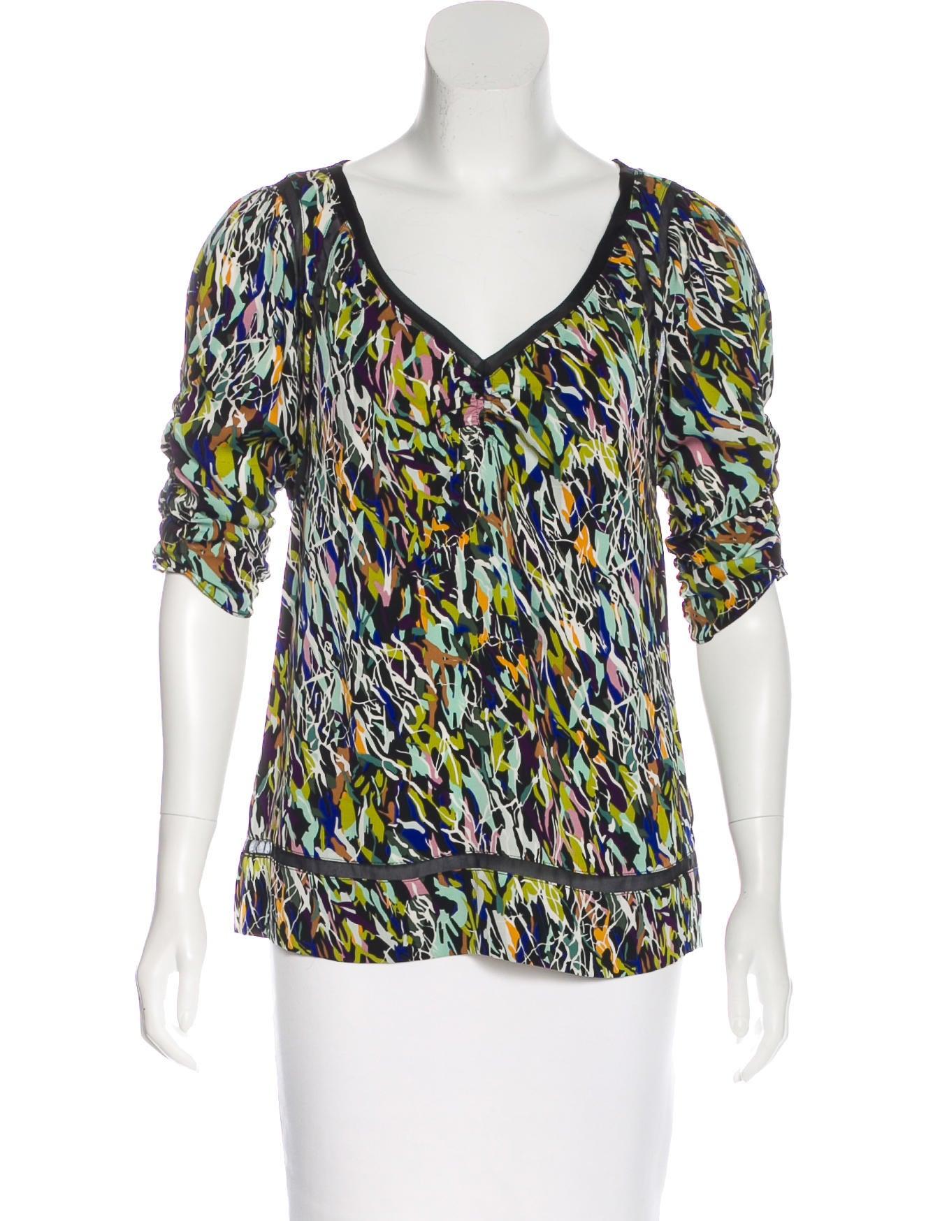 Diane von furstenberg kait silk blouse clothing for Diane von furstenberg shirt
