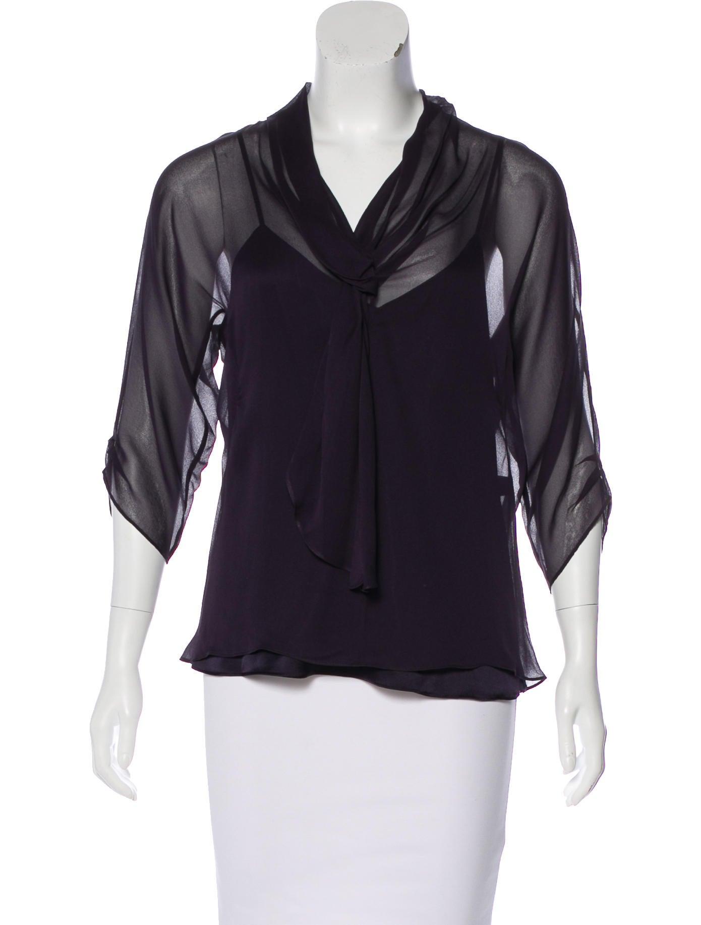 Diane von furstenberg alcott silk top clothing for Diane von furstenberg shirt