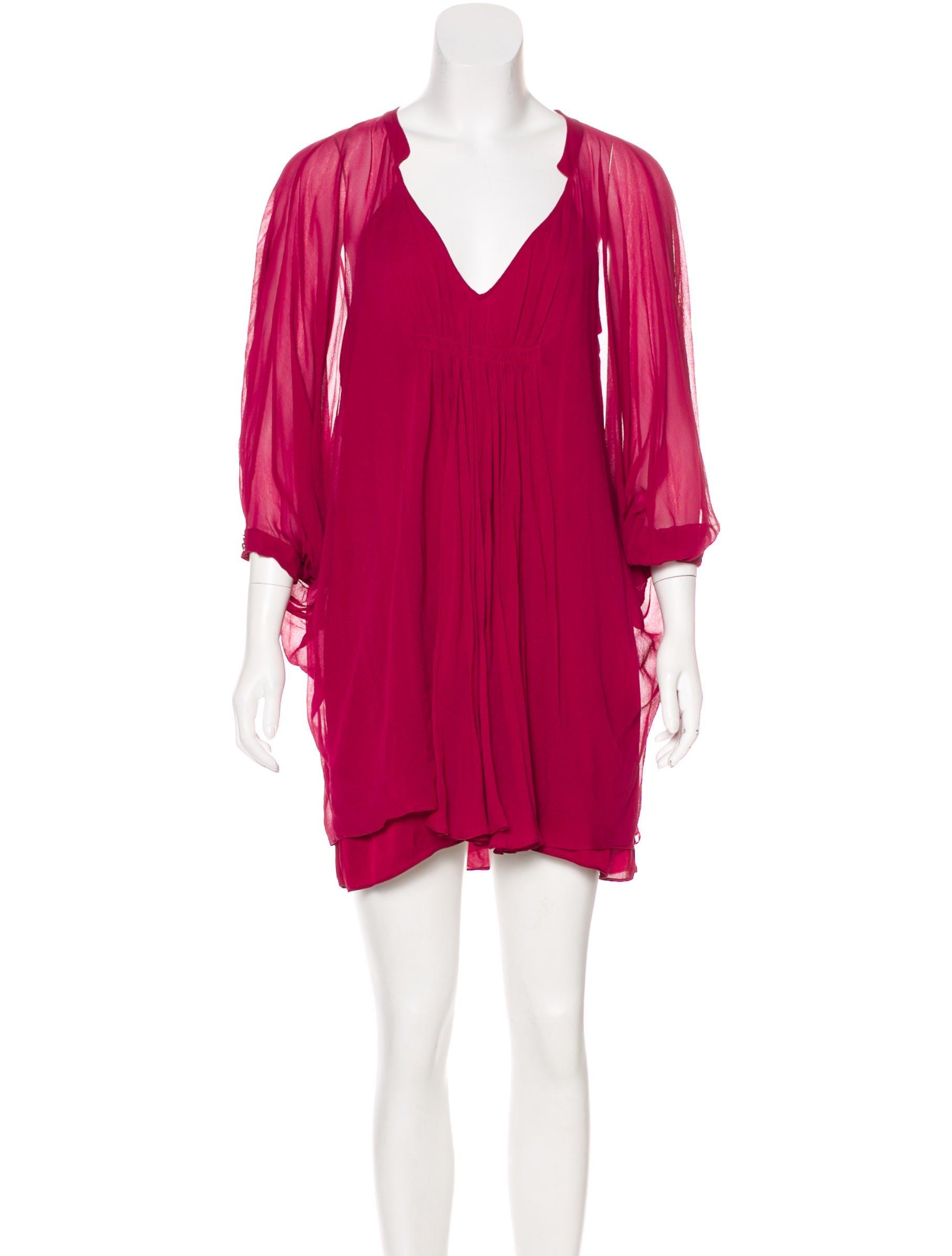 Diane von furstenberg silk mini dress clothing for Diane von furstenberg clothing
