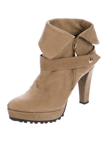 diane furstenberg suede ankle boots shoes