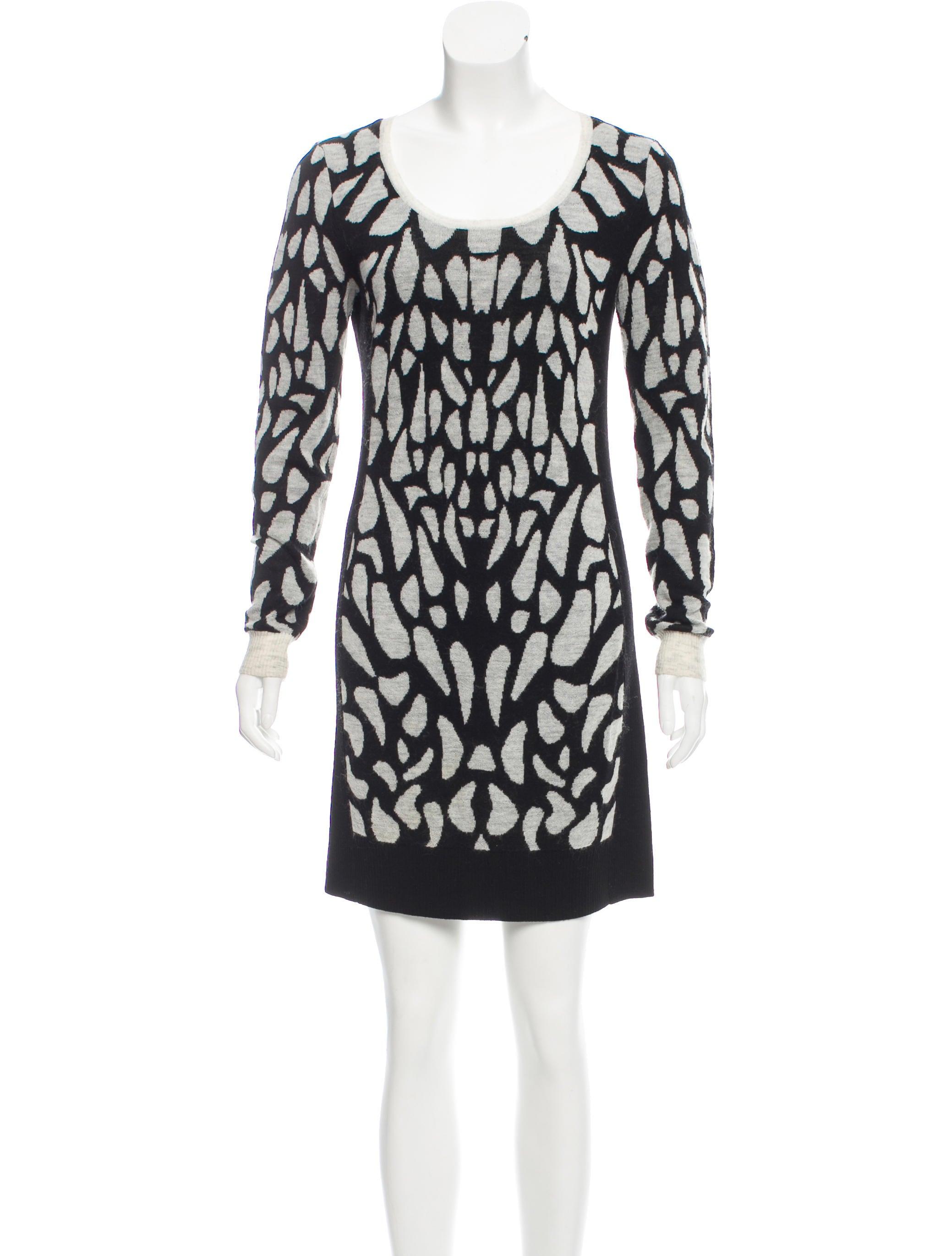 34ec112ad4 Diane von Furstenberg Patterned Wool Dress - Clothing - WDI116994 ...