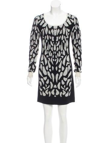Diane von Furstenberg Patterned Wool Dress None