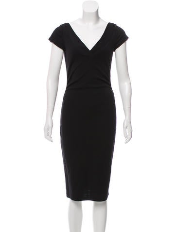 Diane von Furstenberg V-Neck Midi Dress None