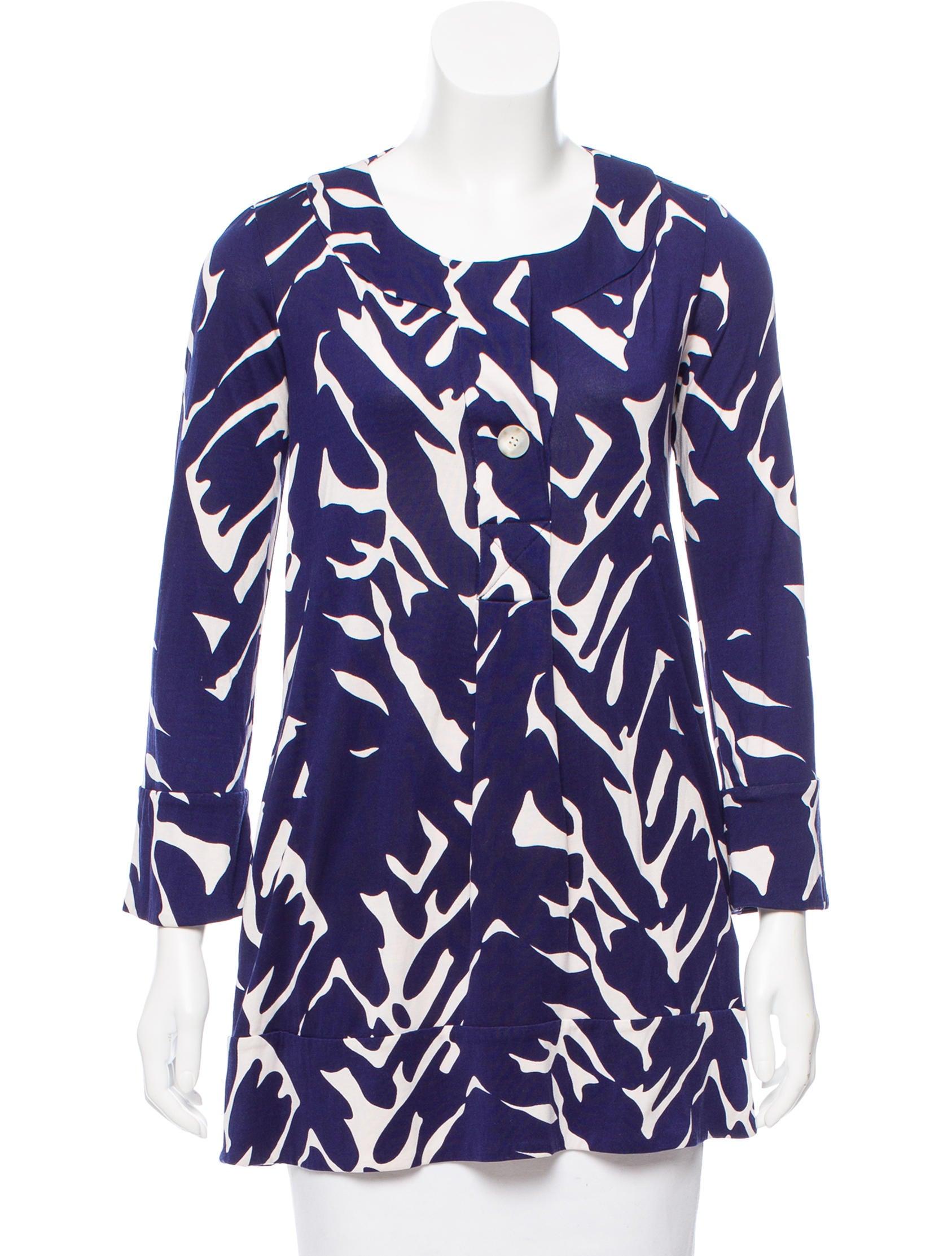 Diane von furstenberg printed silk tunic clothing for Diane von furstenberg shirt