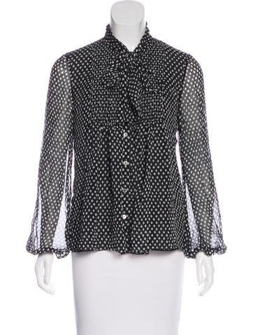 Diane von Furstenberg Silk Button-Up Top None