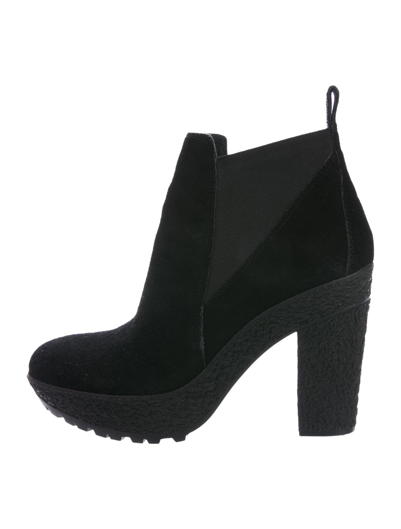 Diane von Furstenberg Suede Platform Ankle Boots sale limited edition sast outlet official site reliable sale online extremely j596yjPEX