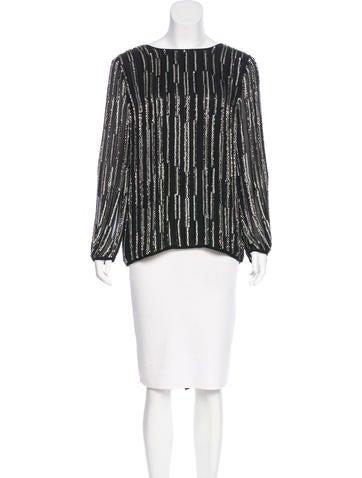 Diane von Furstenberg Silk Embellished Top w/ Tags None