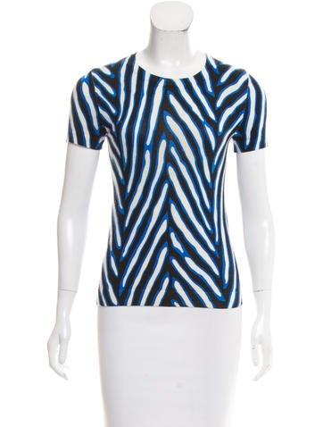Diane von Furstenberg Printed Knit Top None