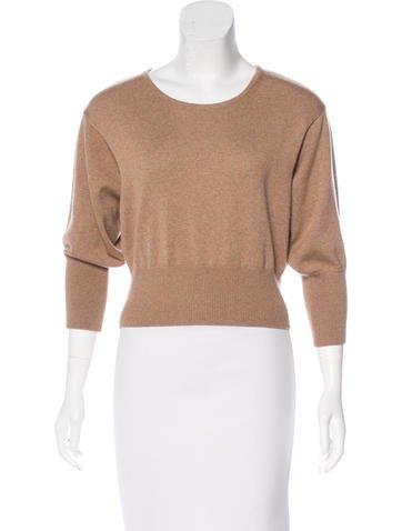 Diane von Furstenberg Cropped Wool Sweater None