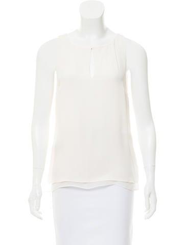 Diane von Furstenberg Sleeveless Silk Top None