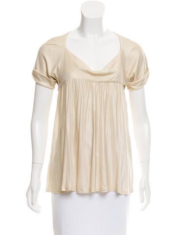 Diane von Furstenberg Etienne Metallic Top None