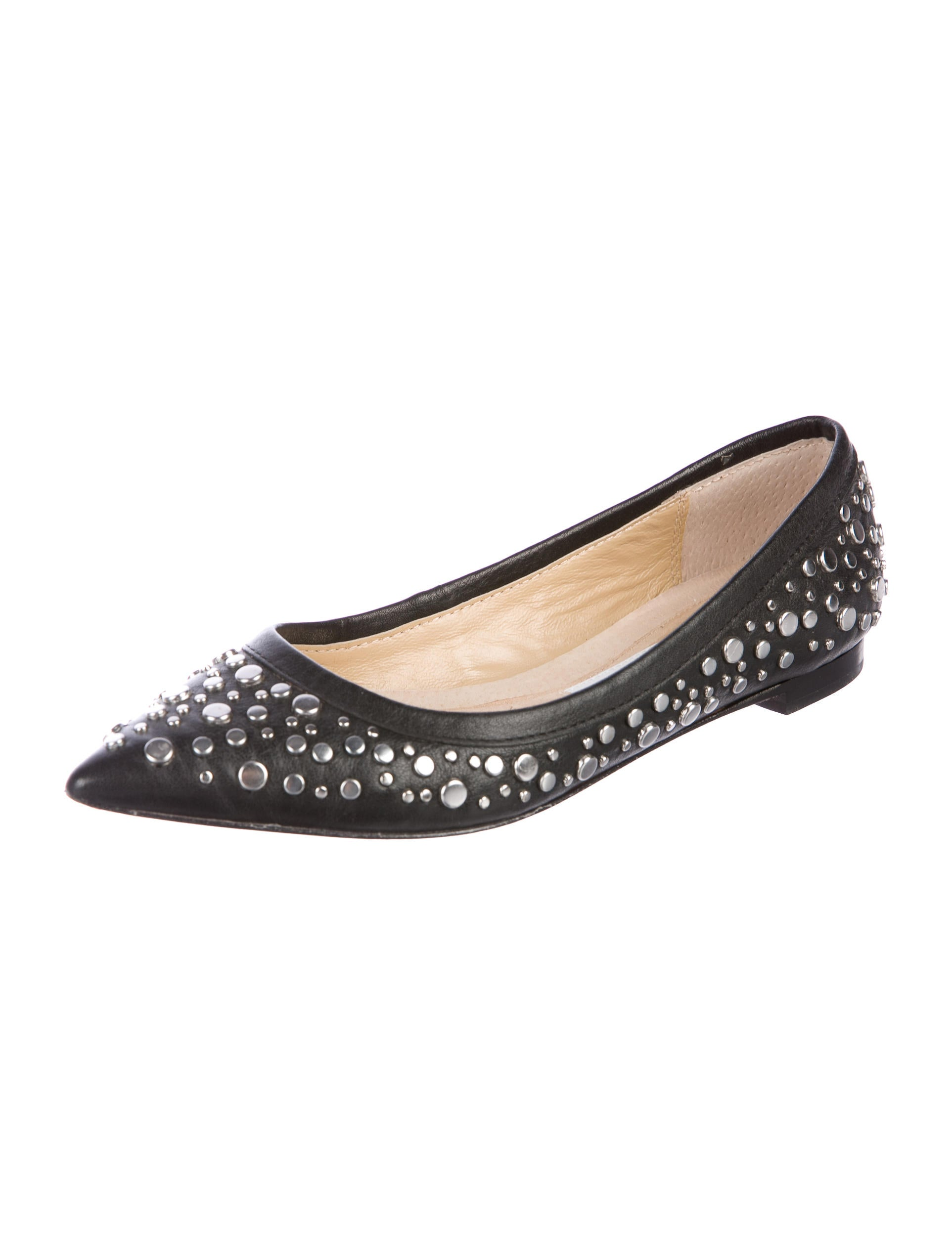 Diane von Furstenberg Embellished Pointed-Toe Flats clearance for nice online cheap authentic discount for sale Na6x2lp