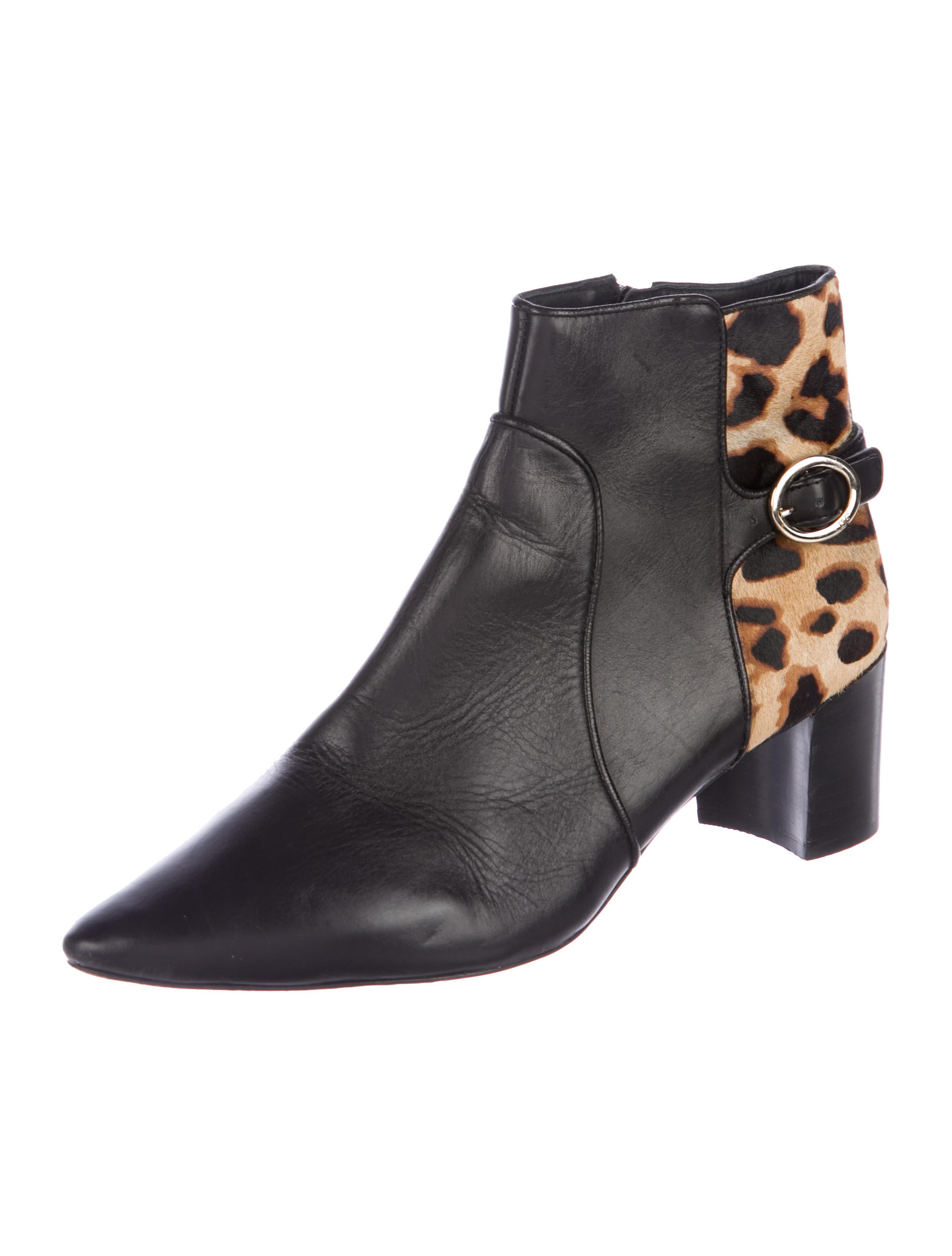 clearance cheap price sast online Diane von Furstenberg Leather Ponyhair-Accented Boots free shipping perfect under $60 for sale QmYDNOd