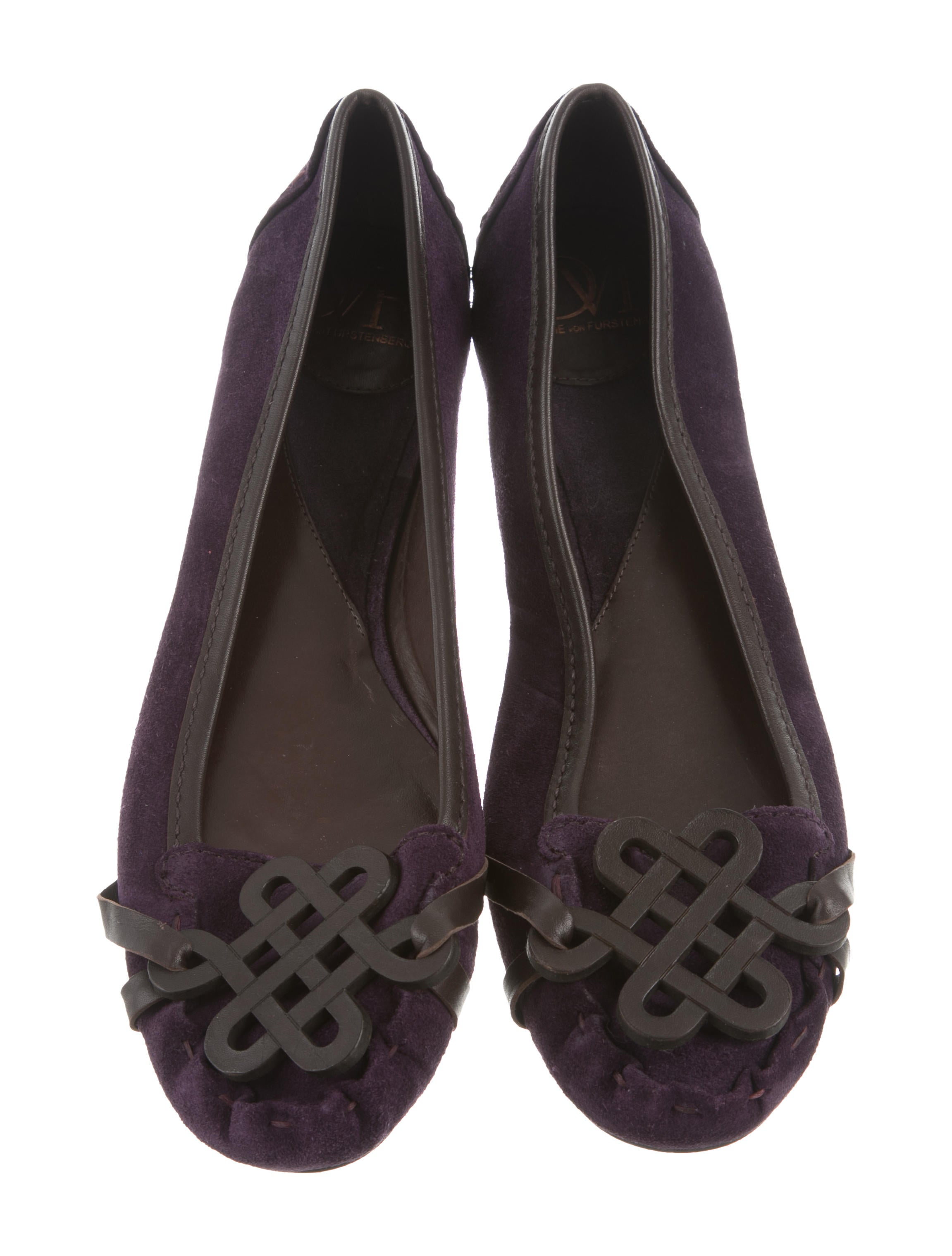 limited edition for sale 100% guaranteed sale online Diane von Furstenberg Suede Round-Toe Flats cheap order cheap new arrival ZPbbZHT
