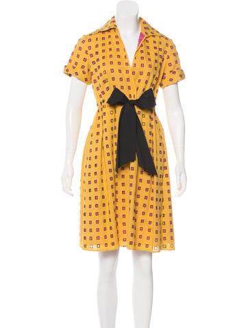 Linen Blend Knee-Length Dress