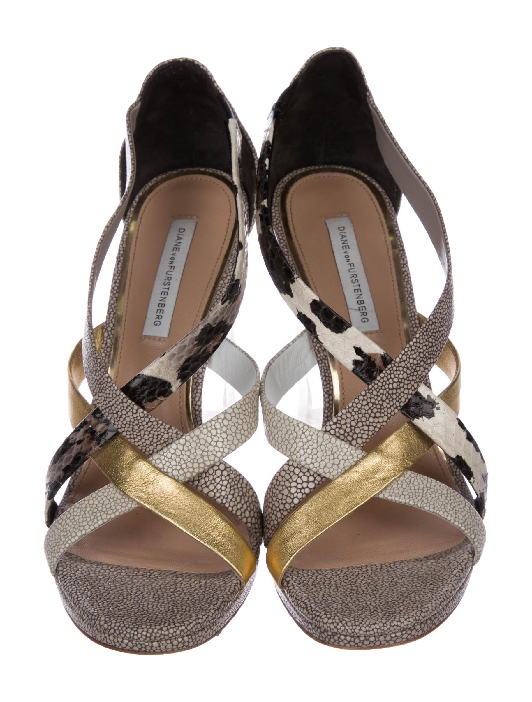 discount from china Diane von Furstenberg Ibiza Snakeskin-Accented Pumps sneakernews low price fee shipping cheap price discount shop for w3JWR