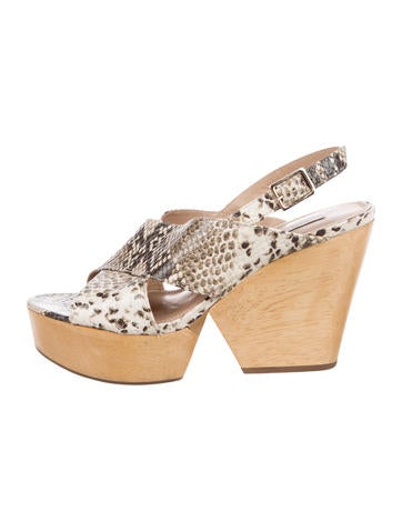 Diane von Furstenberg Embossed Crossover Sandals for nice for sale cheap sale supply Z1Bvt