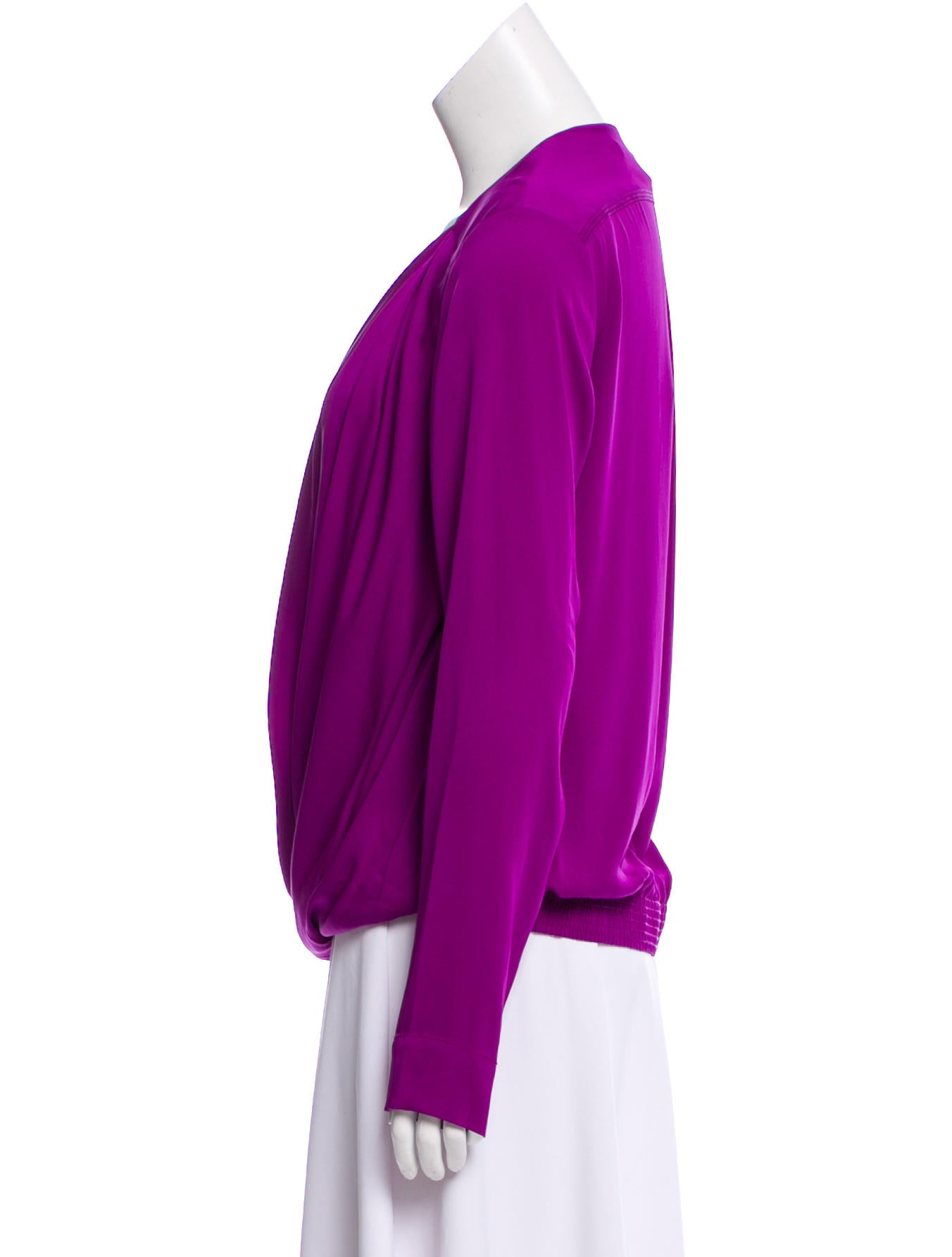 Diane von Furstenberg Surplice Neckline New Issie Two L/S Top w/ Tags Pay With Paypal Cheap Online Recommend Cheap Price ueSNF