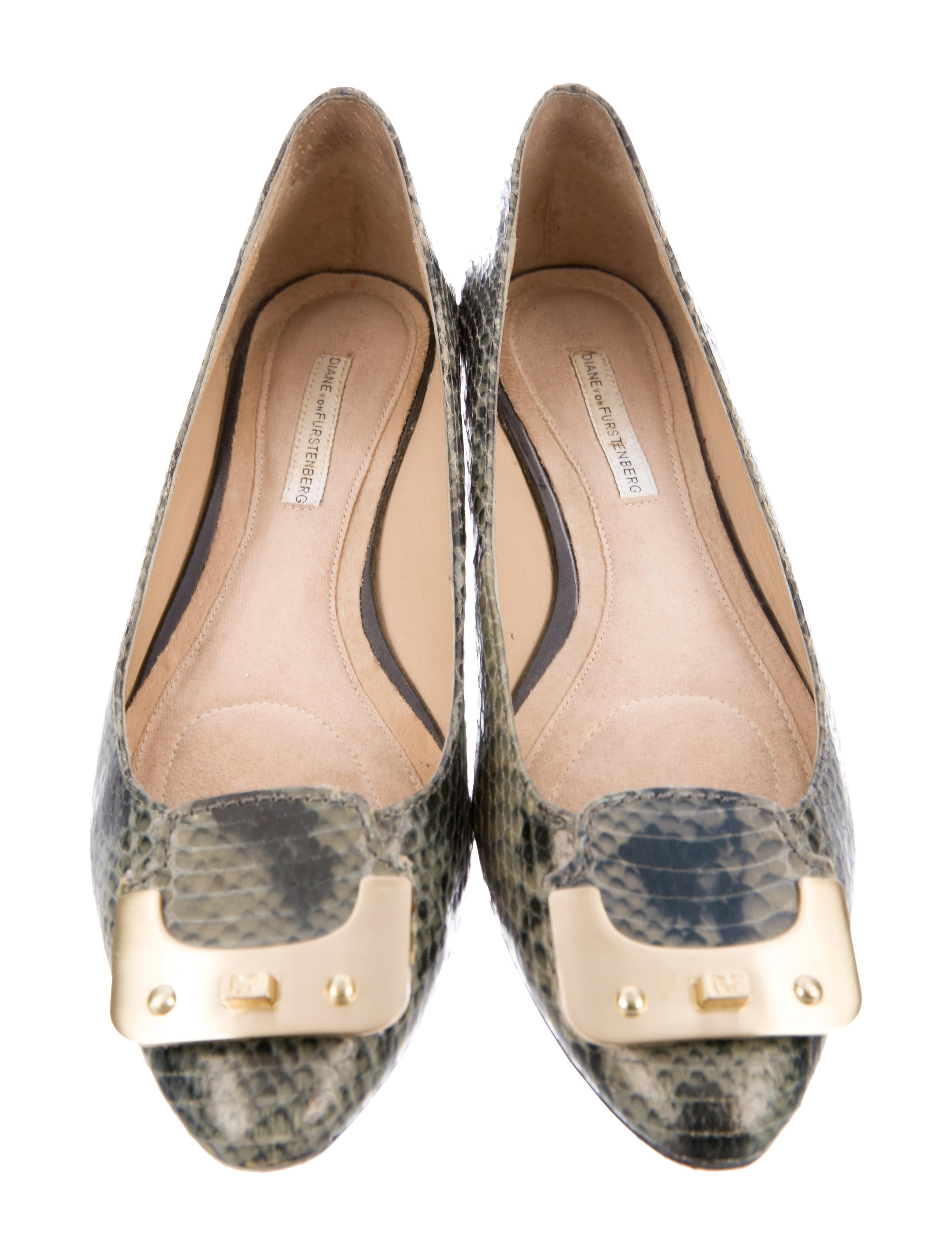 Diane von Furstenberg Embossed Round-Toe Flats sale Manchester clearance nicekicks buy cheap get to buy aAidoEH