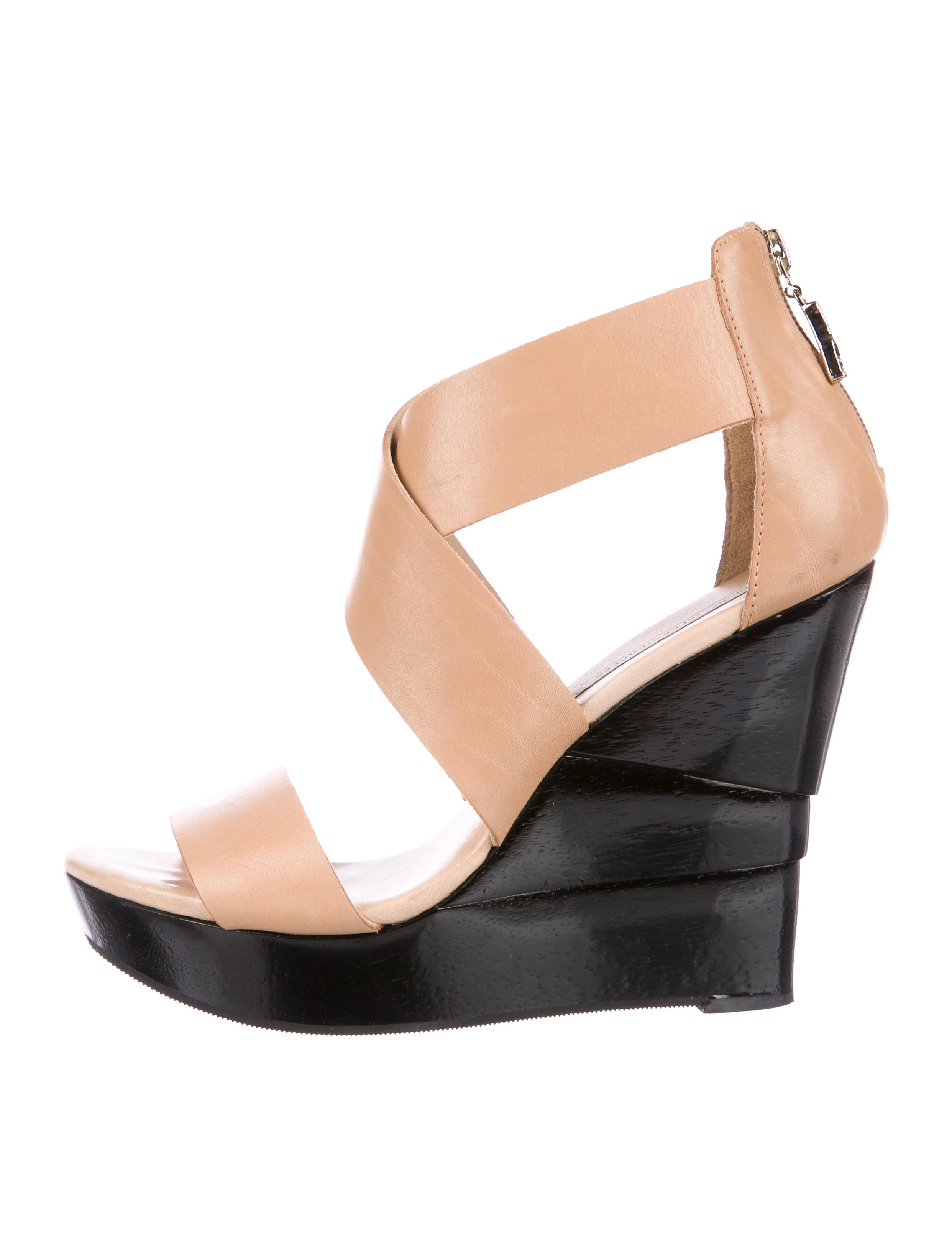outlet get to buy clearance best Diane von Furstenberg Crossover Wedge Sandals low cost cheap price 5qrvHJkXNX