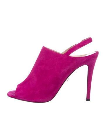 Fendi Velvet Slingback Sandals amazon cheap price 4kC7ouw