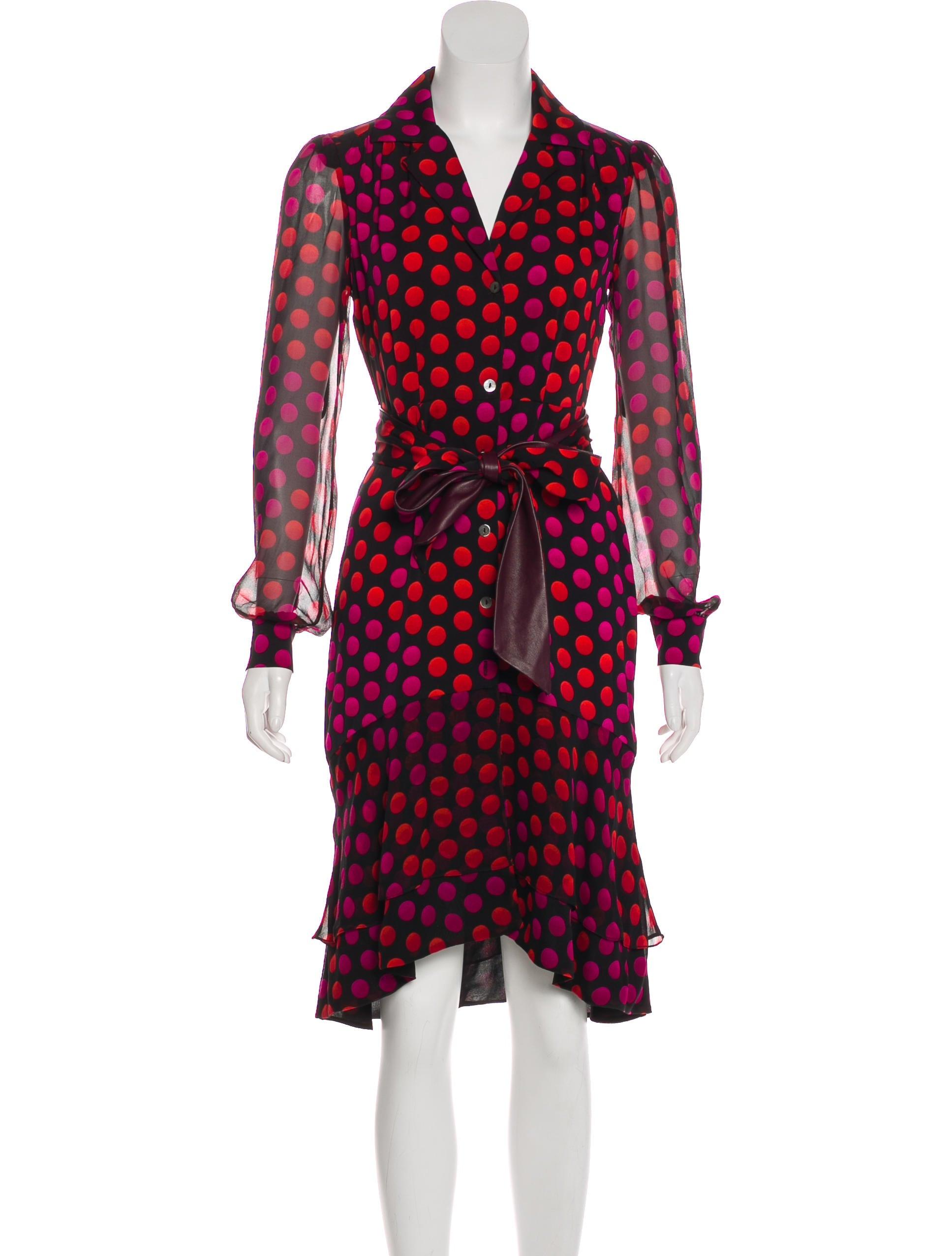 dd5bfd26df260c Diane von Furstenberg Catherine Two Silk Midi Dress - Clothing ...