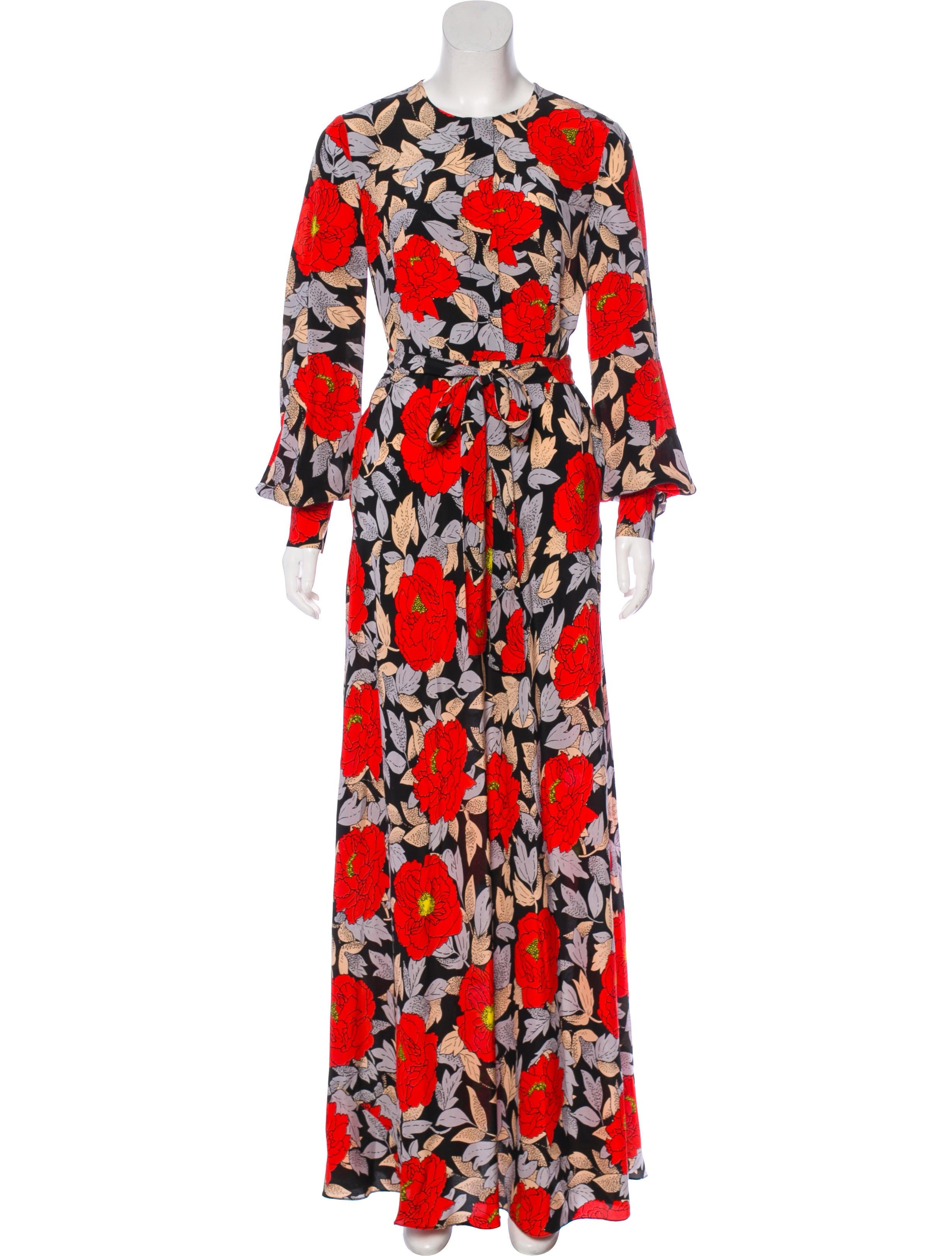 578e238fd17 Diane von Furstenberg Waist Tie Maxi Dress - Clothing - WDI142578 ...