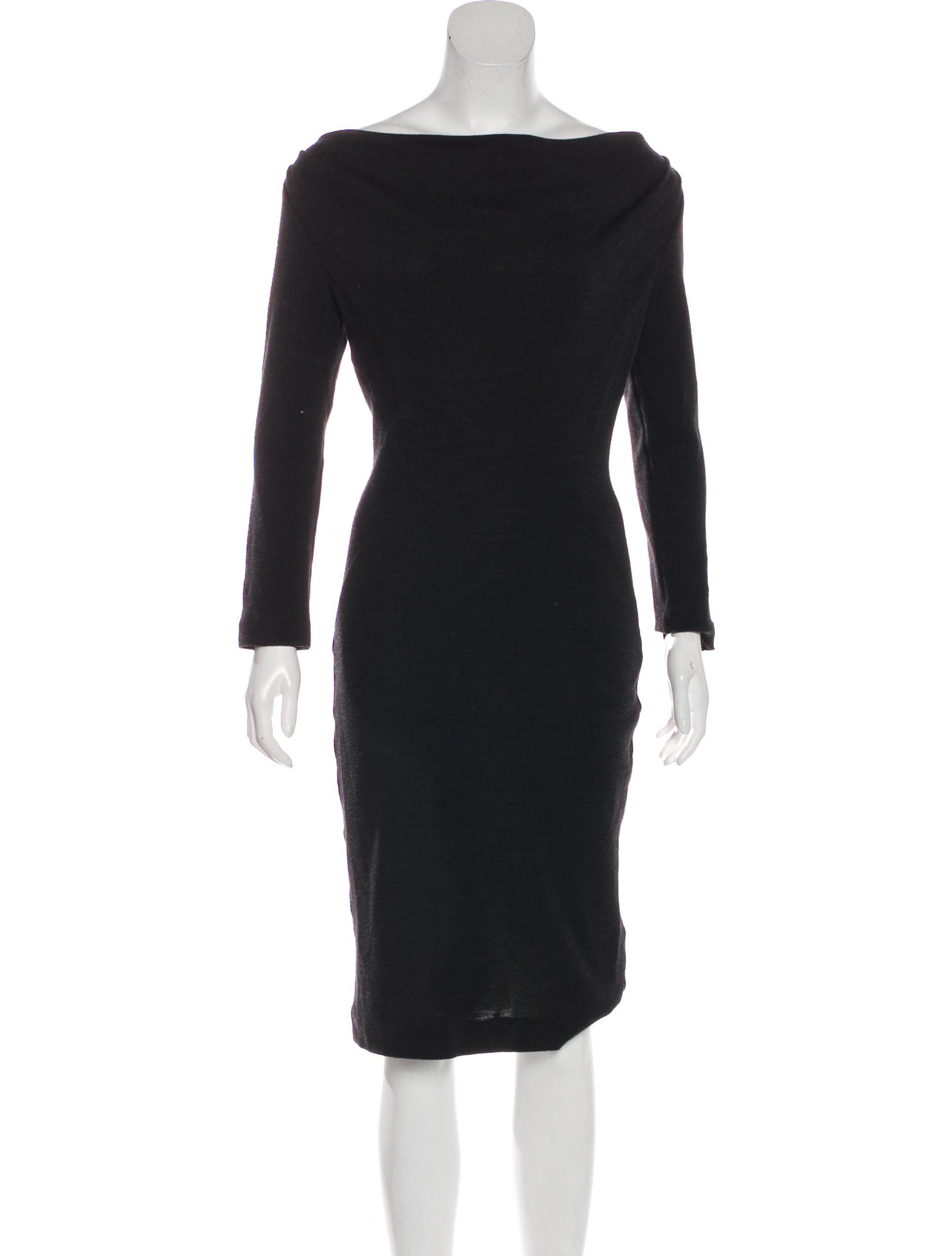 43aa7ce14 Diane von Furstenberg x Neiman Marcus Lilaj Wool Midi Dress ...