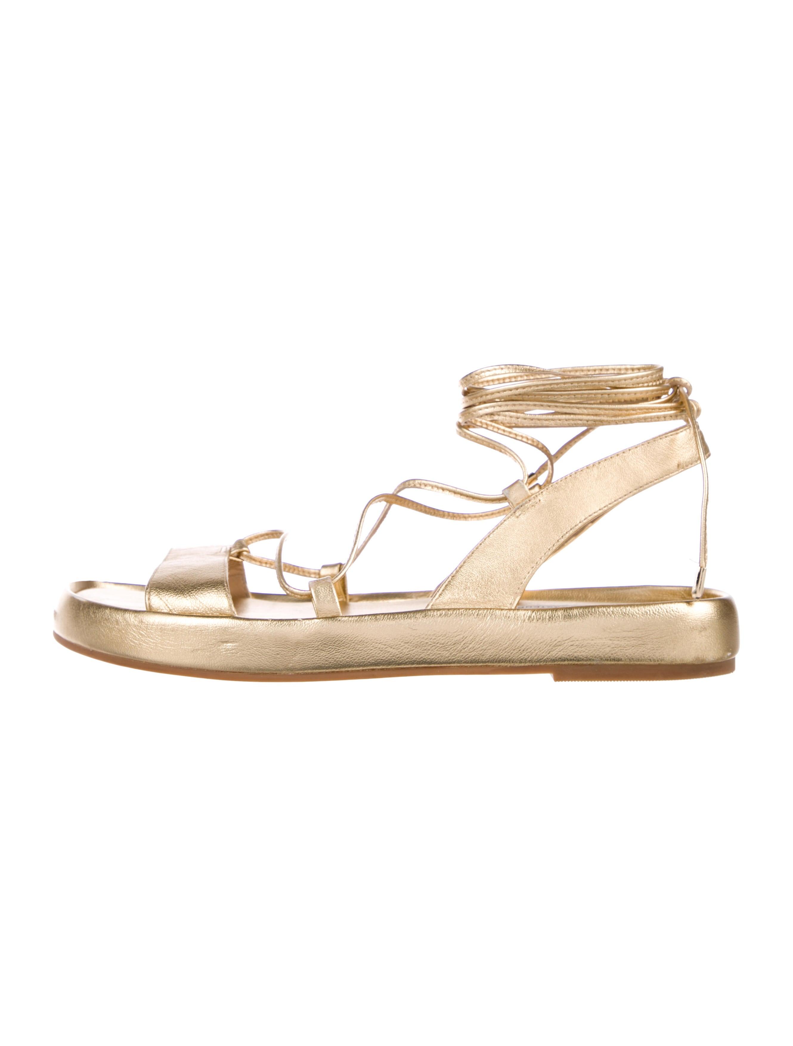 ac2da95616739 Diane von Furstenberg Susie Metallic Sandals - Shoes - WDI154194 ...