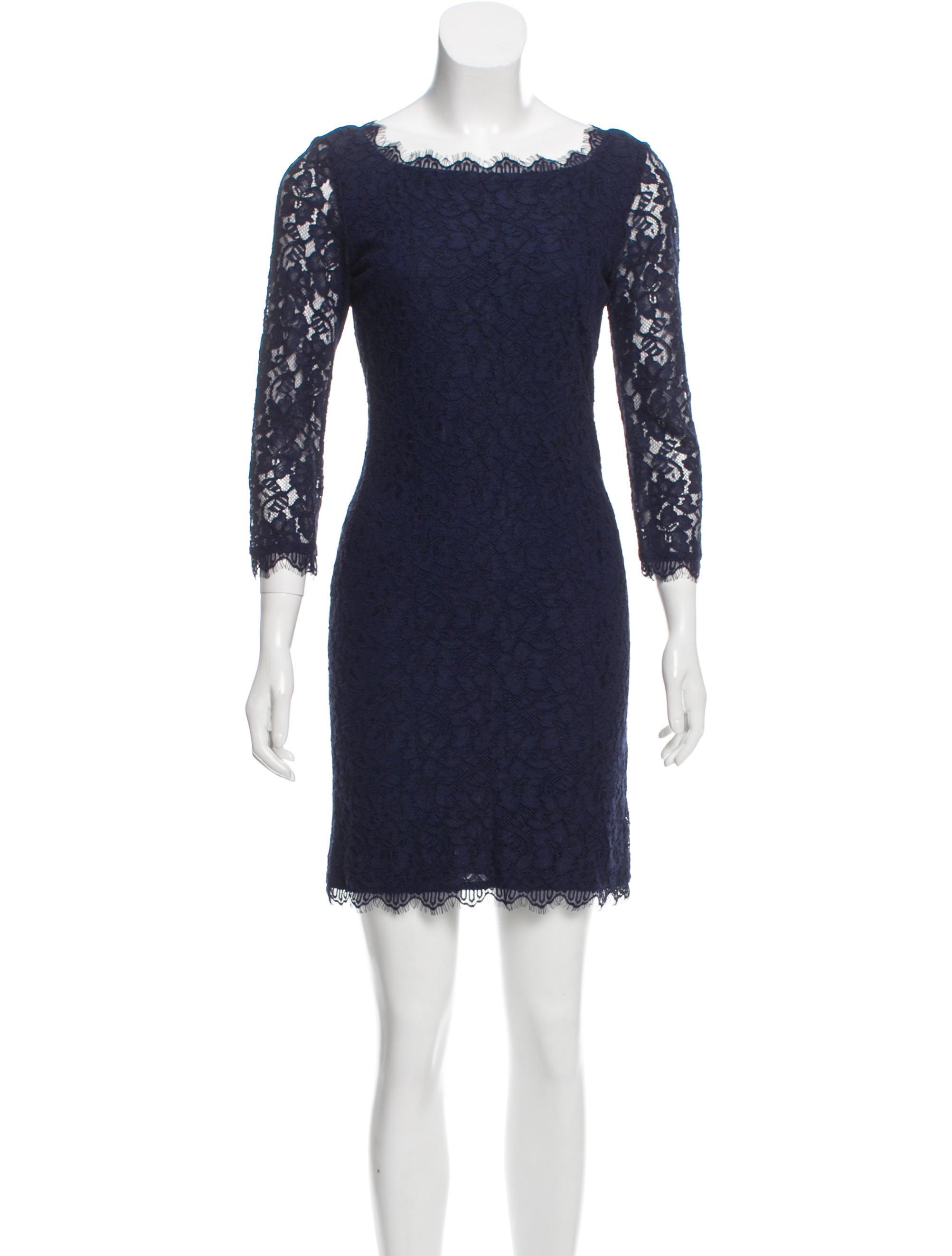 d88cb7f6b6 Diane von Furstenberg New Zarita Lace Mini Dress - Clothing ...