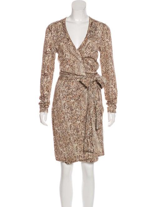 Diane von Furstenberg Linda Wrap Dress Tan