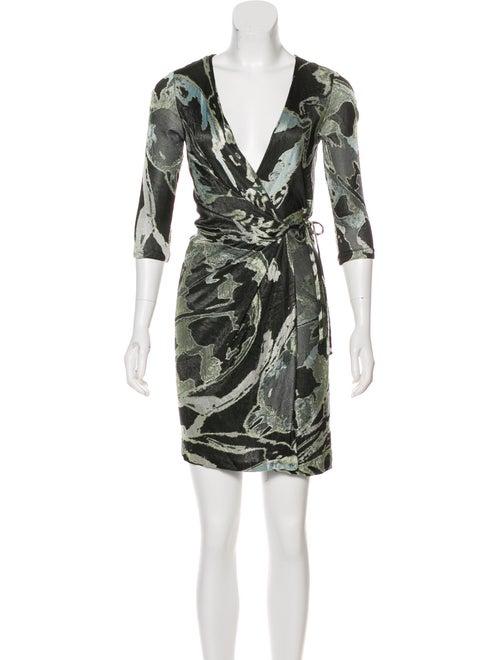 Diane von Furstenberg Wrap Mini Dress Green