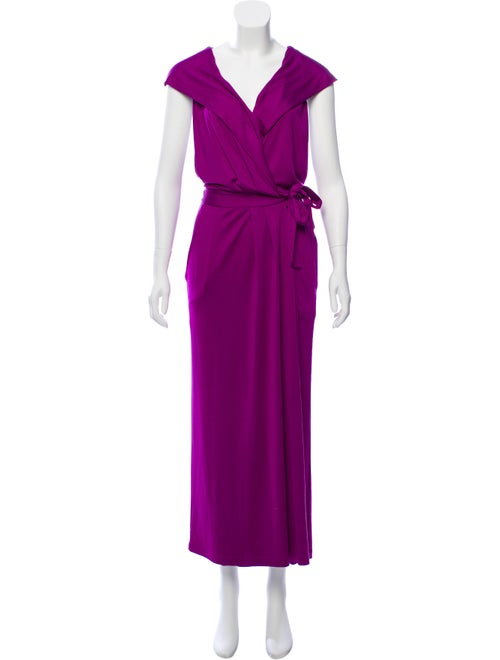 Diane von Furstenberg Hooded Wrap Dress Violet