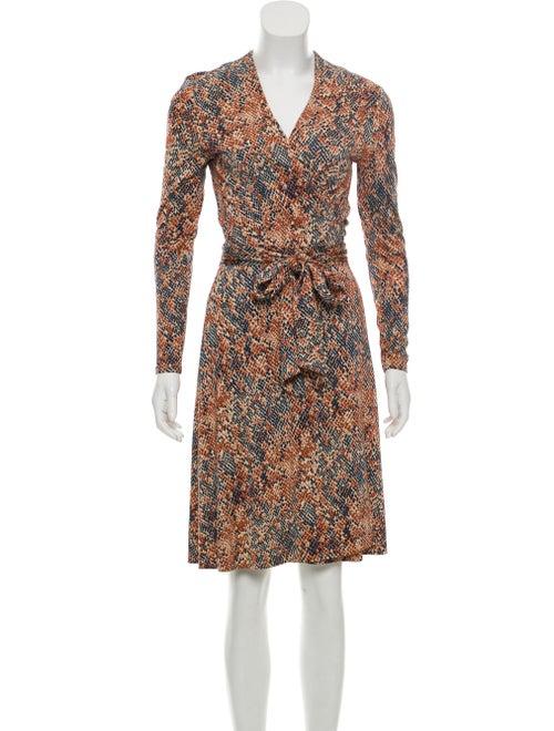 Diane von Furstenberg Silk Wrap Dress Brown
