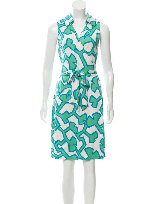 Diane von Furstenberg Silk Wrap Dress White
